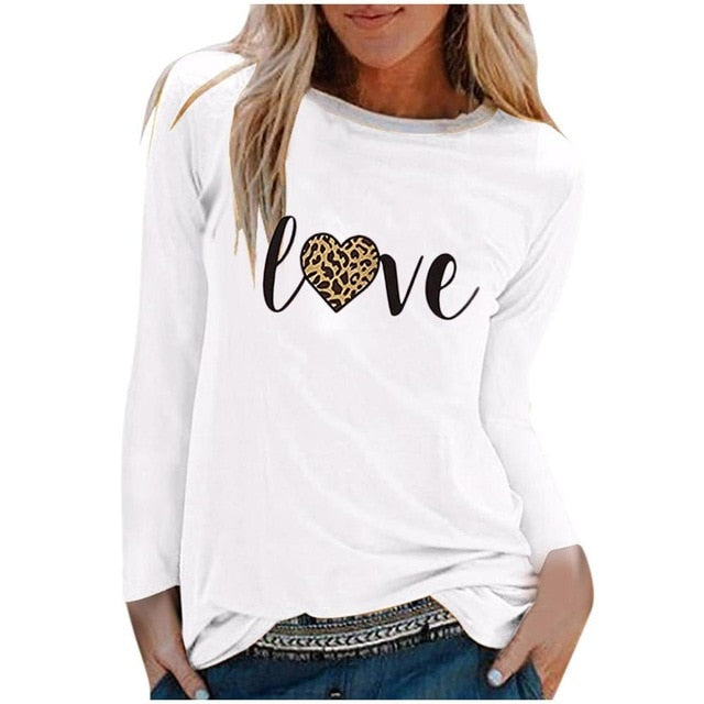 O neck Long Sleeve Top Loose T shirt