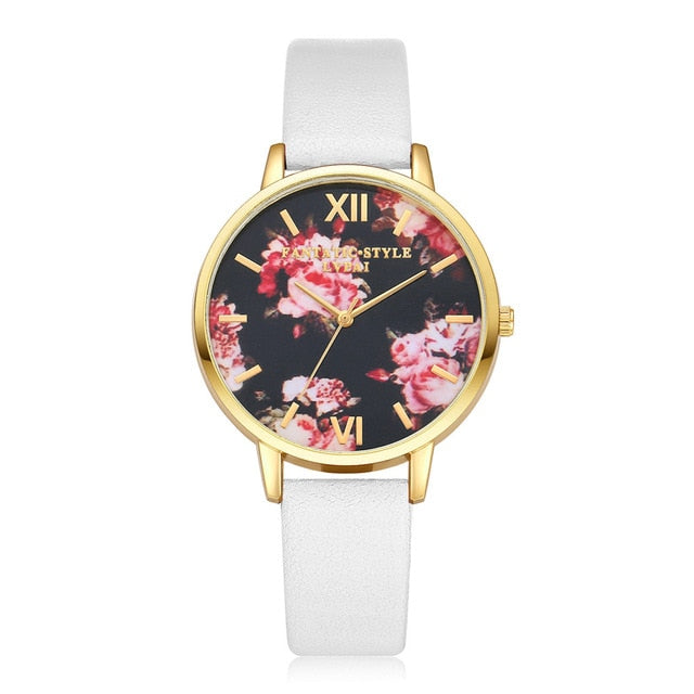 Women's Vintage Flower Butterfly Watch