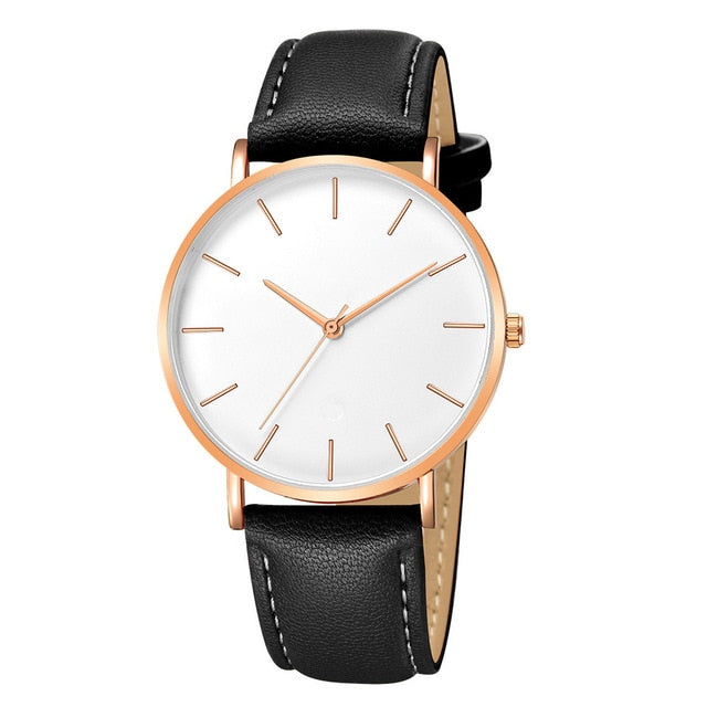 Alloy Case Synthetic Leather Analog Quartz Sport Watch