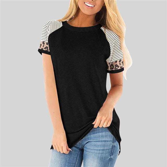 Slim Short Sleeve T Shirt Women Casual Tops