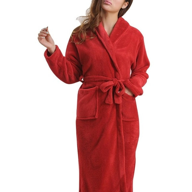 Soft Flannel Coral Fleece Lovers Dress