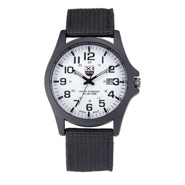 Men Date Stainless Steel Military Sports Analog Watch