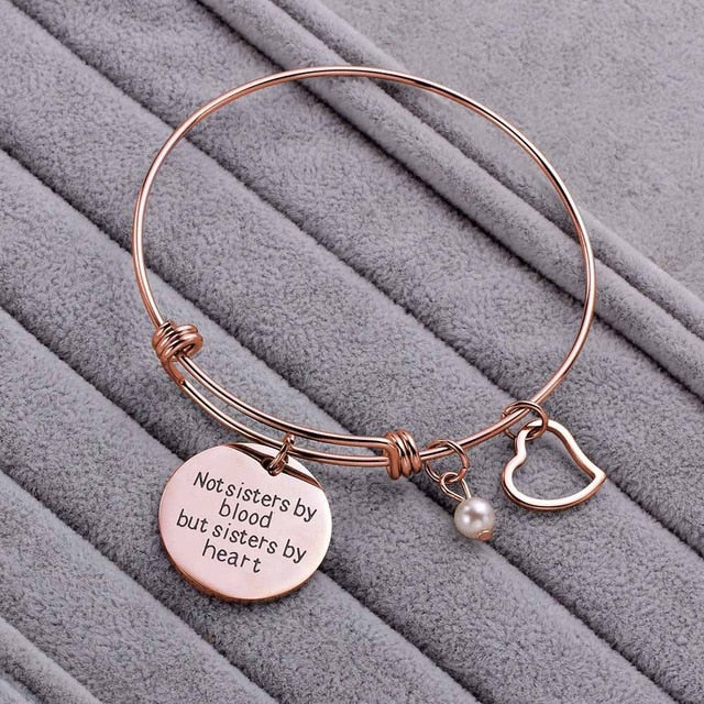 Gift Silver Rose Gold Friendship Bracelet