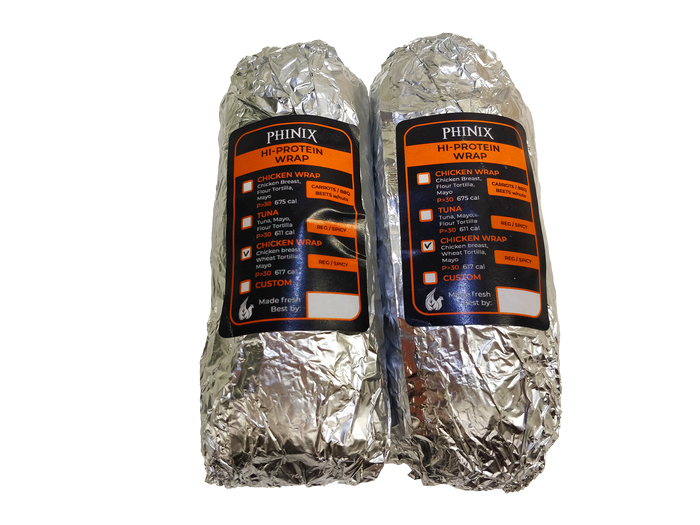 Builder Hi Protein Chicken Wrap (2 Wraps) (Cal Varies 600-700)