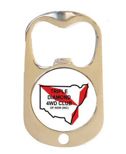 Triple Diamond Army Dog Tag Bottle Opener - Clever Club Products