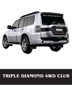 Triple Diamond Rear Window Banner - Clever Club Products