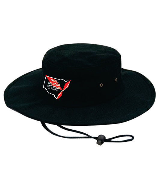 Triple Diamond Broad Brim Hat Adults - Clever Club Products