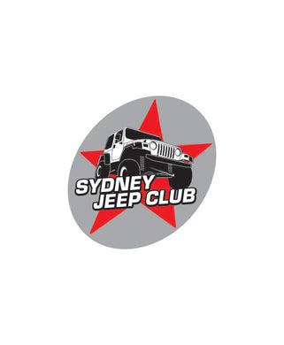 Sydney Jeep Club Logo Sticker - Clever Club Products