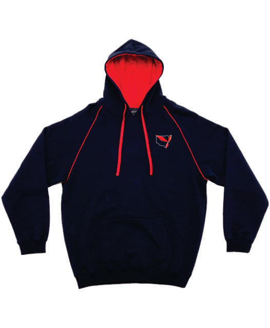 Triple Diamond Contrast Hoodie Adults - Clever Club Products