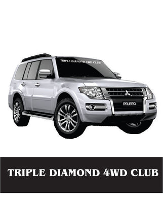 Triple Diamond Front Window Banner - Clever Club Products