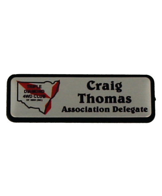 Triple Diamond Name Badges - Clever Club Products