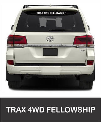 Trax 4WD Fellowship - Rear Window Sticker - Clever Club Products