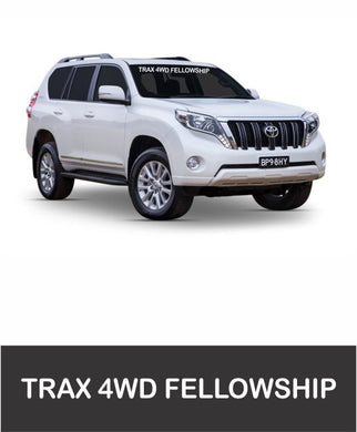 Trax 4WD Fellowship - Front Window Sticker - Clever Club Products