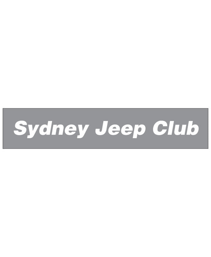 Sydney Jeep Window Sticker - Clever Club Products