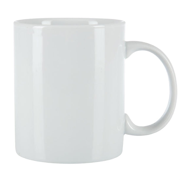 White Ceramic Can Mugs