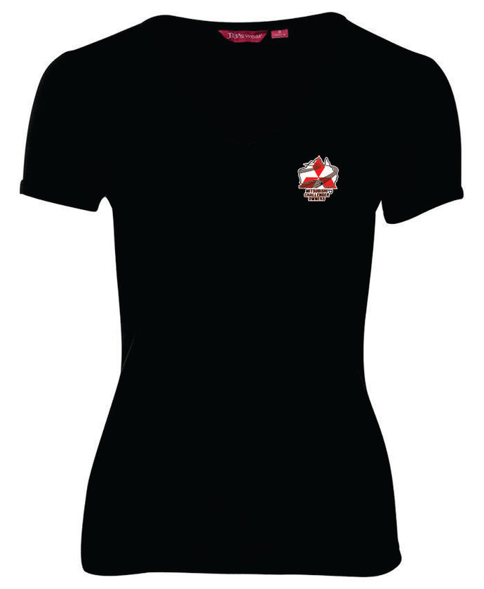 Mitsubishi Challenger Owners Ladies V Neck Tee - Clever Club Products