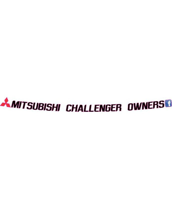 Mitsubishi Challenger Owners Front Window Banner - Clever Club Products