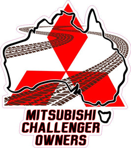 Mitsubishi Challenger Owners Logo Sticker - Clever Club Products