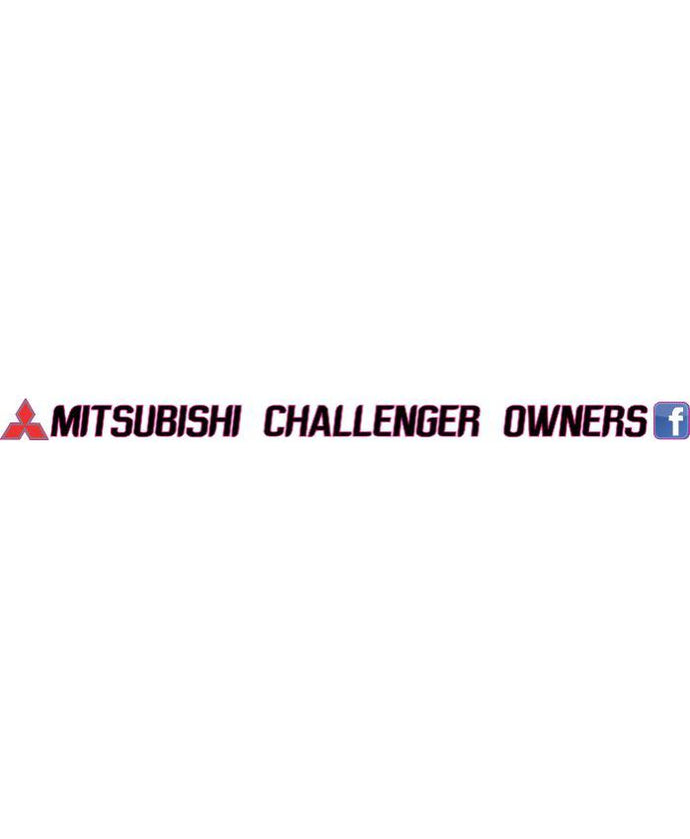 Mitsubishi Challenger Owners Rear Window Banner - Clever Club Products
