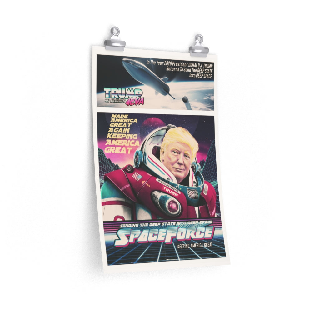 Spaceforce Trump - Poster - Fleccas Talks Store