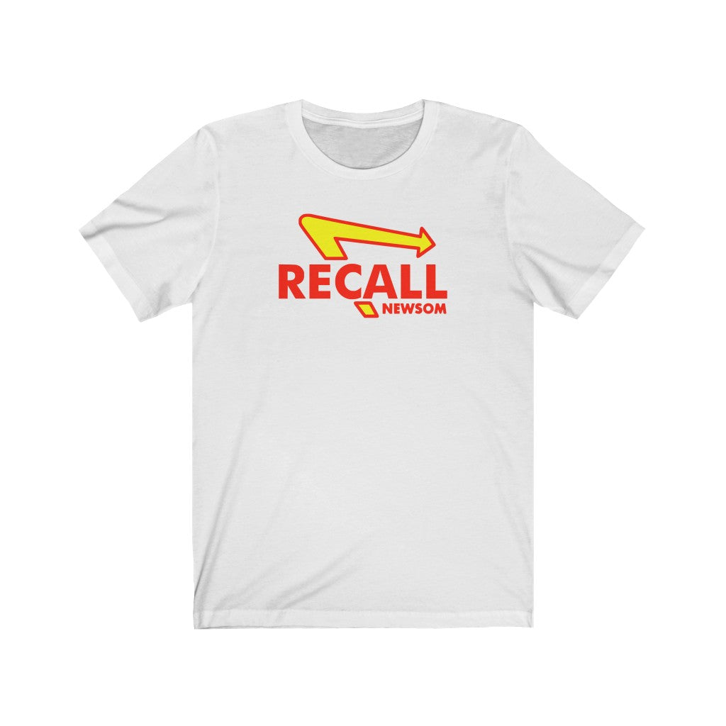 Recall Newsom - Unisex Short Sleeve T-Shirt - Fleccas Talks Store