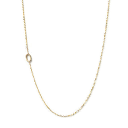 14K GOLD ASYMMETRICAL NUMBER NECKLACE - 0