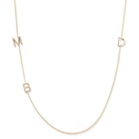 14K GOLD 3 LETTER NECKLACE