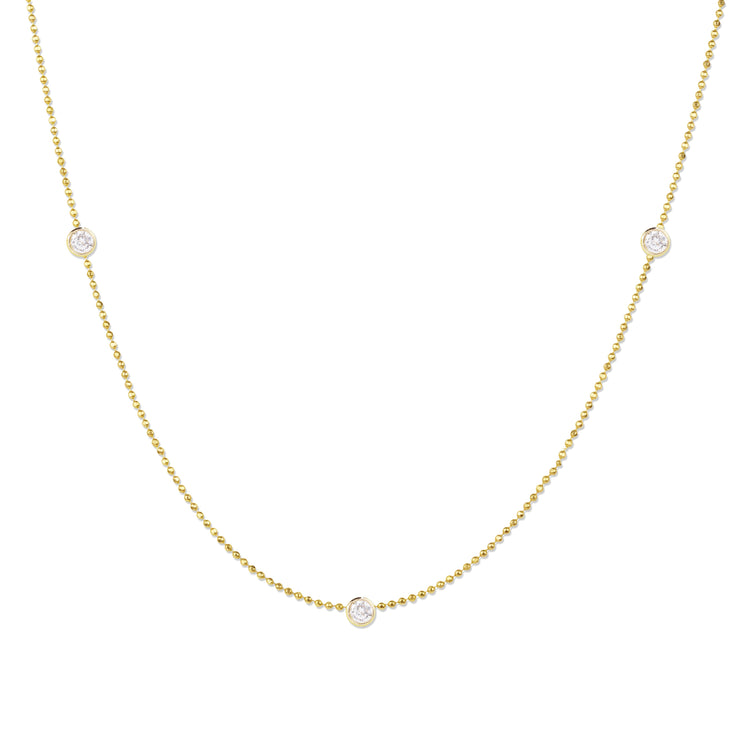 Triple Diamond Layering Necklace