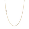 14K GOLD ASYMMETRICAL NUMBER NECKLACE - 7