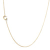 14K GOLD ASYMMETRICAL LETTER NECKLACE - C