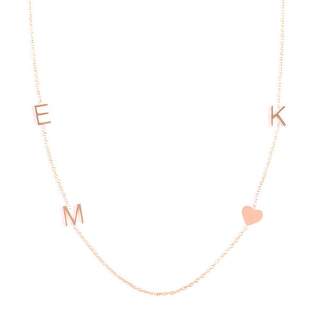 14K GOLD 4 LETTER NECKLACE