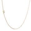 14K GOLD ASYMMETRICAL LETTER NECKLACE - F