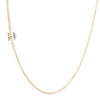 14K GOLD ASYMMETRICAL LETTER NECKLACE - H