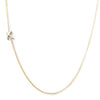 14K GOLD ASYMMETRICAL LETTER NECKLACE - K