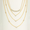 Diamond Arc Layering Necklace