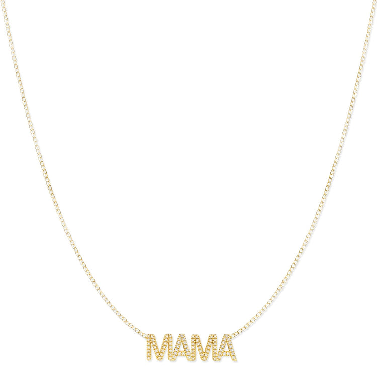 Pavé MAMA Necklace