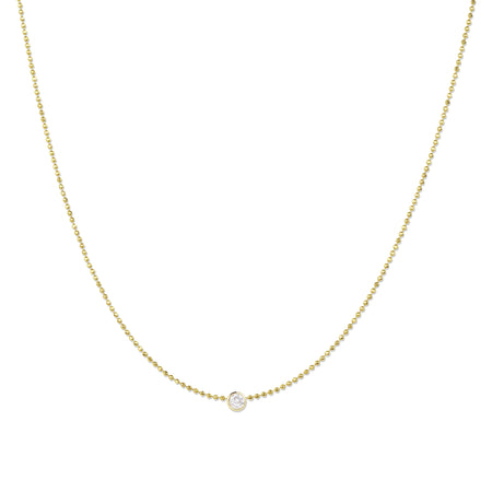 Single Diamond Layering Necklace
