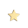 14K Gold Charm Stud - Star