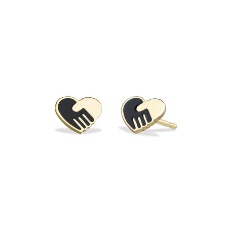 Enamel Gold Unity Earrings