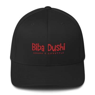 Biba Dushi (Letters in Red) Structured Twill Cap