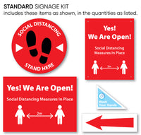 Standard Social Distancing Signage Packages