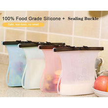 Load image into Gallery viewer, Self-Sealing Portable Silicone Food Bag