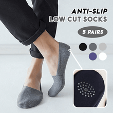 Load image into Gallery viewer, Anti-Slip Low Cut Socks (Set of 5 Pairs)