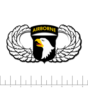 101st Winged, Print decal