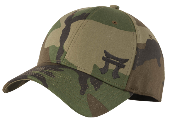 Camo fitted hat
