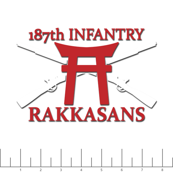 187th Infantry cut decal