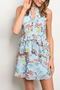 ASHER BLUE FLORAL DRESS