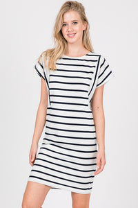 HAILEY OFF WHITE STRIPE DRESS