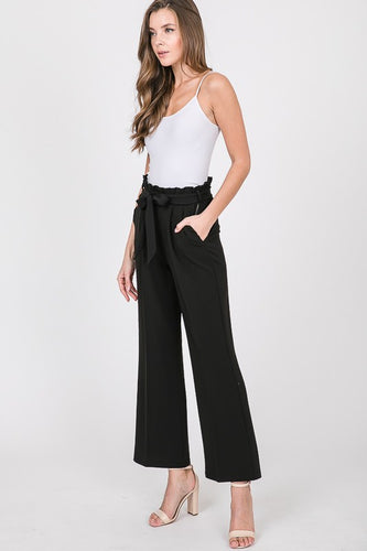 MANDY BELTED FLARE PANTS
