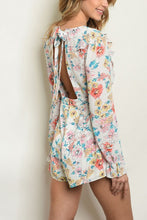 Load image into Gallery viewer, BETSY IVORY FLORAL ROMPER
